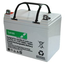 Batterie de démarrage technologie AGM Start and Stop pour bateau BATTERIE AGM DUAL PURPOSE LUCAS - LSLC34-12