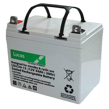 Batterie pour bateau BATTERIE AGM DUAL PURPOSE LUCAS - LSLC34-12