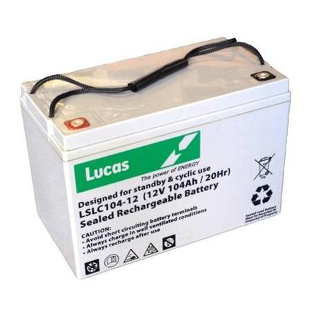 Batterie pour tous types de bateaux BATTERIE AGM DUAL PURPOSE LUCAS - LSLC104-12