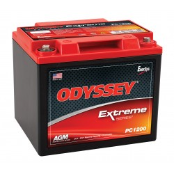 Batterie DUAL PURPOSE tous types d'applications : Démarrage, Servitude en décharge lente, Secours, Radio...etc ODYSSEY Extreme SeriesTM PLOMB PUR - PC1200