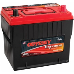 Batterie DUAL PURPOSE tous types d'applications : Démarrage, Servitude en décharge lente, Secours, Radio...etc ODYSSEY Extreme SeriesTM PLOMB PUR - PC1400-25