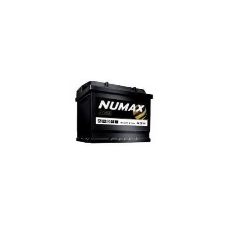 Batterie pour bateau NUMAX AGM marine demarrage 60Ah-680 (en)