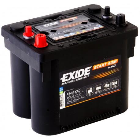 Batterie pour bateau Start AGM Exide EM900 12V 42Ah