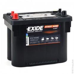 Batterie de démarrage pour bateau Start AGM Exide EM900 12V 42Ah