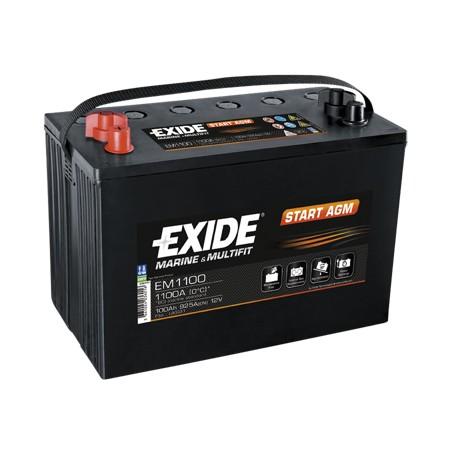 Batterie pour tous types de bateaux Start AGM Exide EM900 12V 42Ah