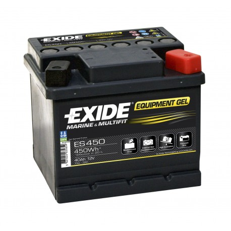 Batterie pour bateau Batterie Gel Exide ES450 12V 40AH