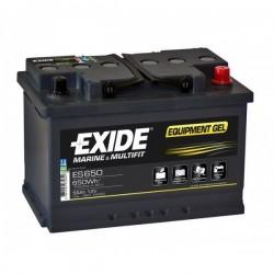 Batterie pour bateau électrique Batterie Gel Exide ES650 12V 56AH