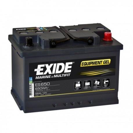 Batterie pour bateau Batterie Gel Exide ES650 12V 56AH