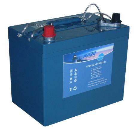 Batterie pour tous types de bateaux BATTERIE MARINE GEL HAZE - 80Ah
