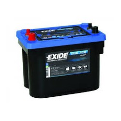 Batterie DUAL PURPOSE tous types d'applications : Démarrage, Servitude en décharge lente, Secours, Radio...etc Start AGM Exide EM900 12V 42Ah