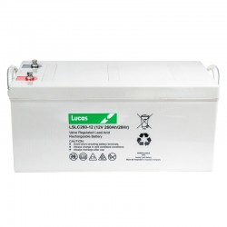 Batterie Dual Purpose AGM pour tous types d'applications bateaux LUCAS AGM DUAL PURPOSE 260Ah
