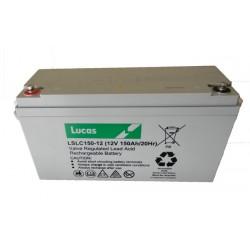 Batterie de démarrage moteur pour bateau LUCAS AGM DUAL PURPOSE 150Ah