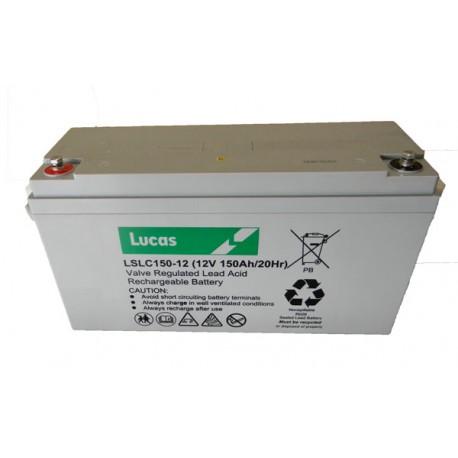 Batterie pour tous types de bateaux LUCAS AGM DUAL PURPOSE 150Ah